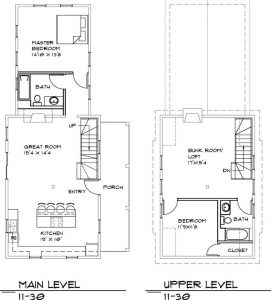 architectural floor plan log cabin